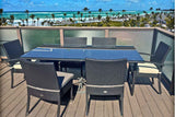 Venice 6 Person Wicker Dining Set