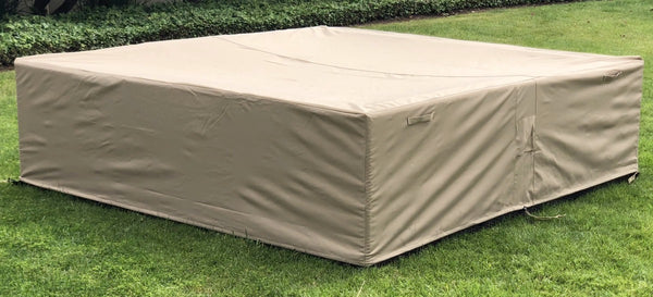 Outdoor Sectional Patio Cover Square Waterproof 126 126 27 Inches