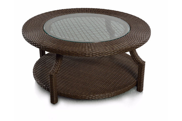 Hampton Round Coffee Table With Bottom Shelve