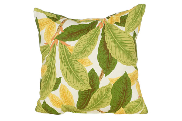 Native Fangipani Print 15 x 15 Pillows (Set of 2)