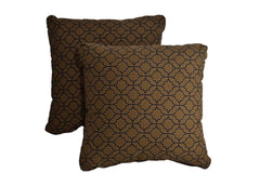 Printed Brown Pillows (Set of 2)
