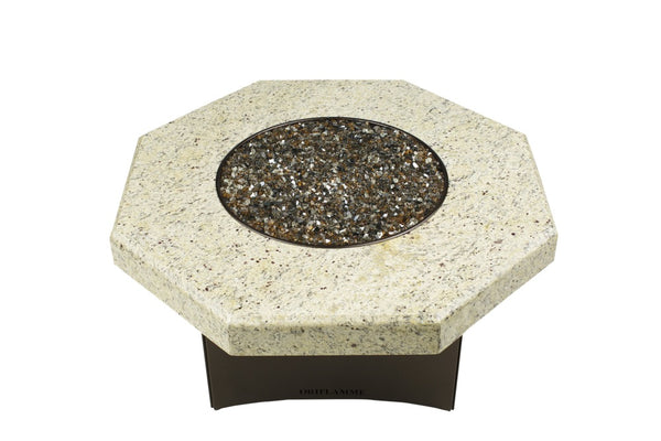 Giallo Santo Octagon Fire Table Granite Top