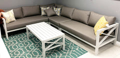 Santorini Aluminum Patio Sectional