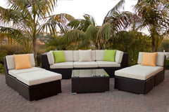Contempo Wicker Sofa Chaise Set