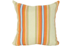 Autumn Stripe Print 15 x 15 Pillows (Set of 2)