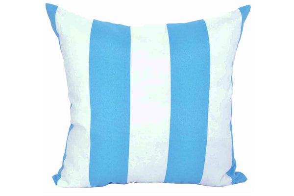Blue Stripe 15 x 15 Pillows (Set of 2)
