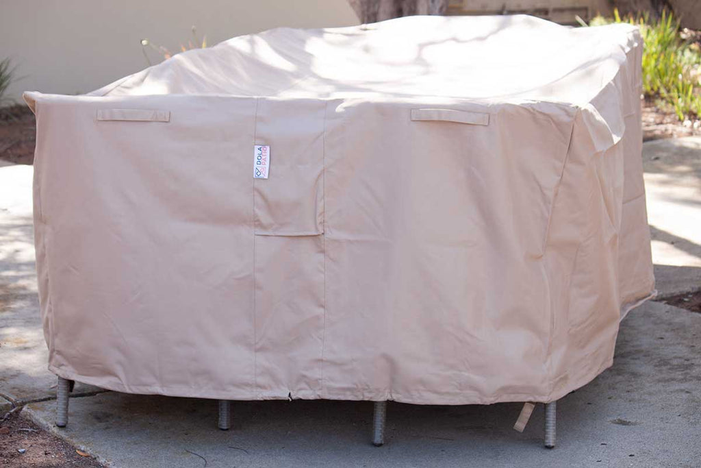 Eurolux Patio & Outdoor Dining Cover 99-59-31.5 Inches Beige Rectangle