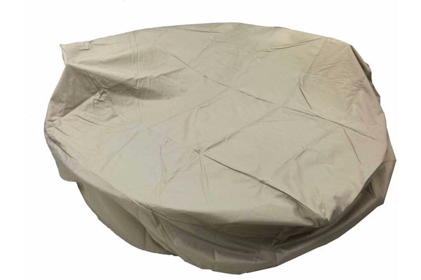 Patio Round Dining Cover Large 90-31.5 Inches Beige Rainproof