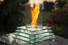 Table Top Fire Pit with Spinning Venturi Flame