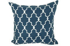 Navy Garden Gate Print 15 x 15 Pillows (Set of 2)
