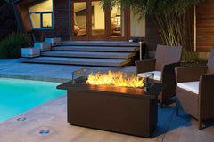 Niran Firetable Rectangle With Stainless Steel Top