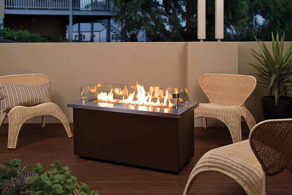 Niran Outdoor Fire Table Rectangle | Gas Firepit Rectangle    Euroluxpatio.com