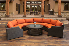 Round Sofa - Hampton Wicker 5 Piece Round Sofa Set