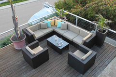 Contempo 9 Piece Club Sectional Set