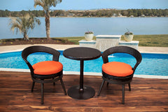 Small Chat Sets - Savannah 3 Piece Swivel Chat Set