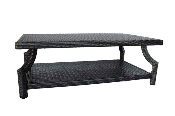 Sunset Rectangle Coffee Table With Bottom Shelve Dark Espresso
