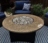 Tropical Brown Round Fire Table Granite Top