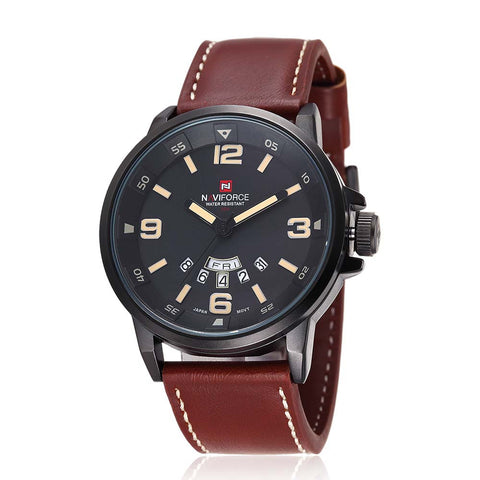 Leather Strap Military Wrist watch