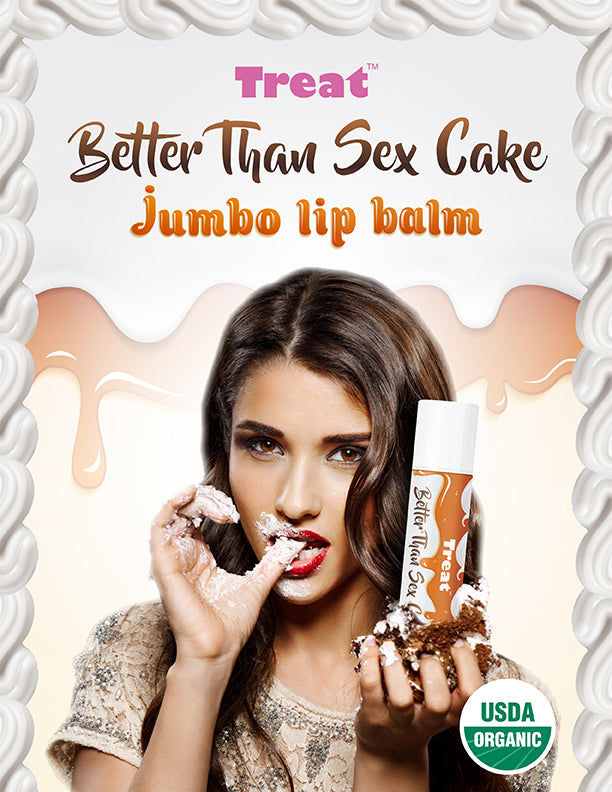 Better Than Sex Cake Jumbo Lip Balm