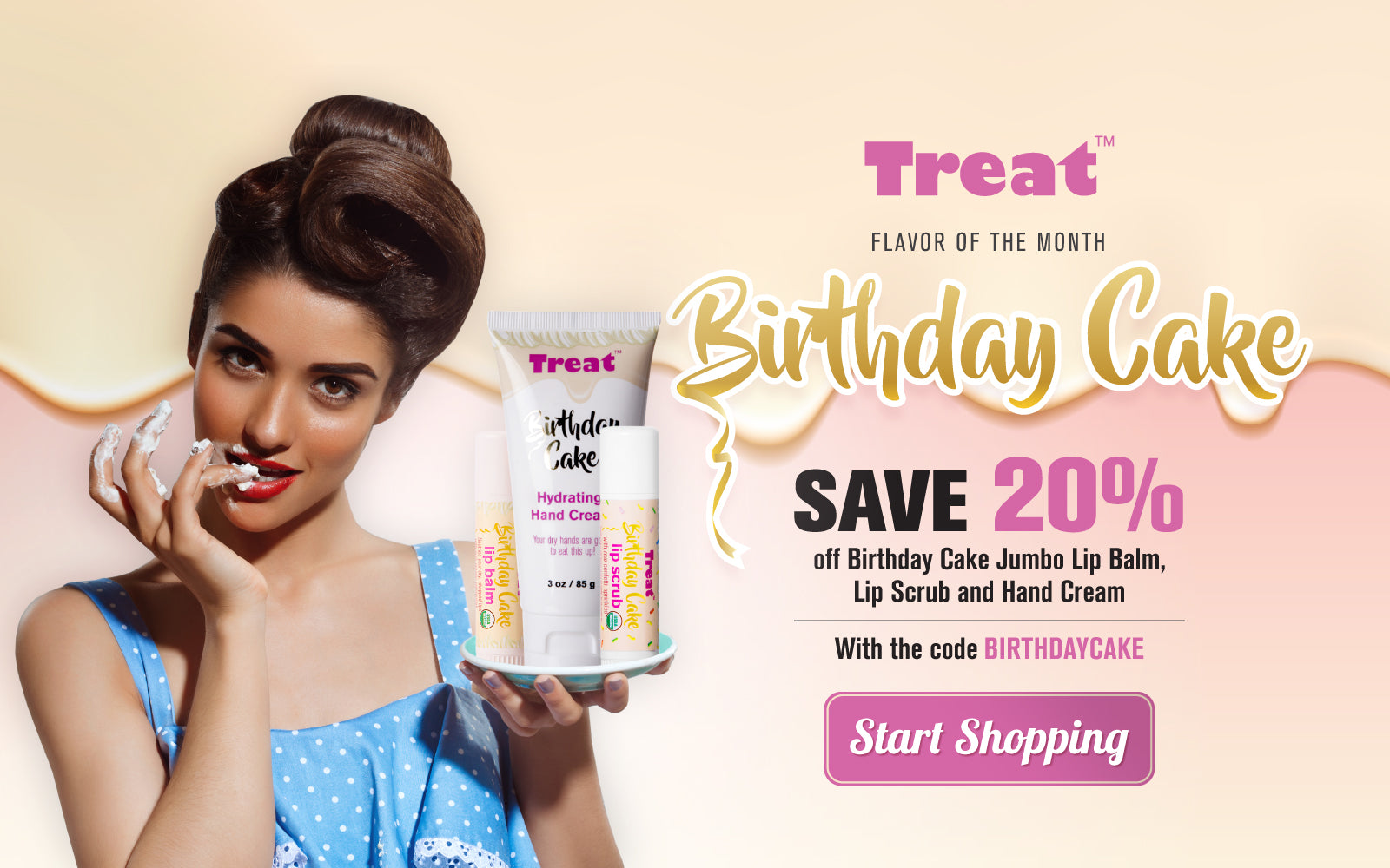 Treat Birthday Cake Flavor of the Month