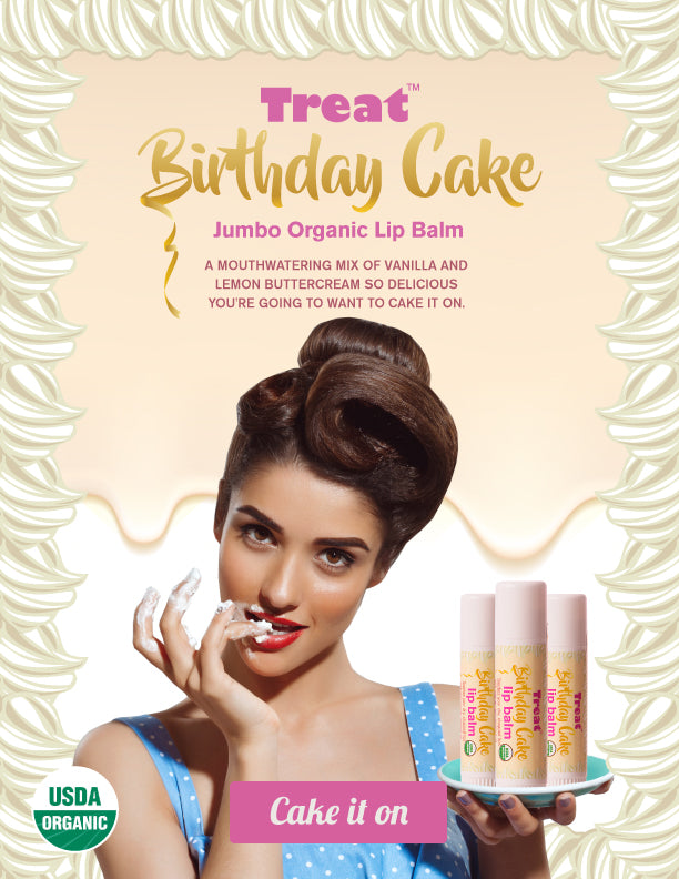 Birthday Cake Jumbo Lip Balm