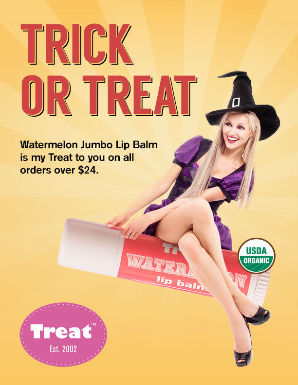 Trick or Treat Watermelon Jumbo Organic Lip Balm