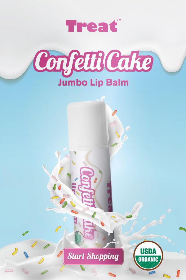 Treat Confetti Cake Jumbo Lip Balm