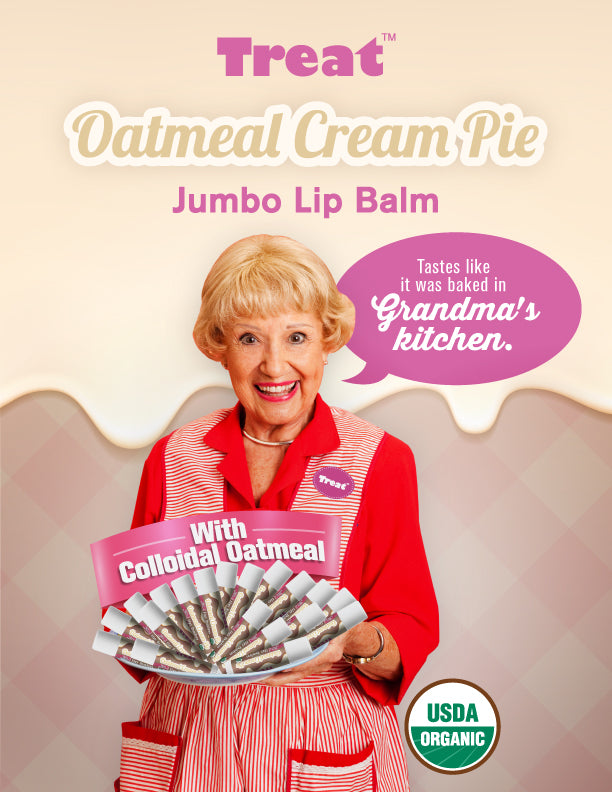 Treat Oatmeal Cream Pie Jumbo Lip Balm