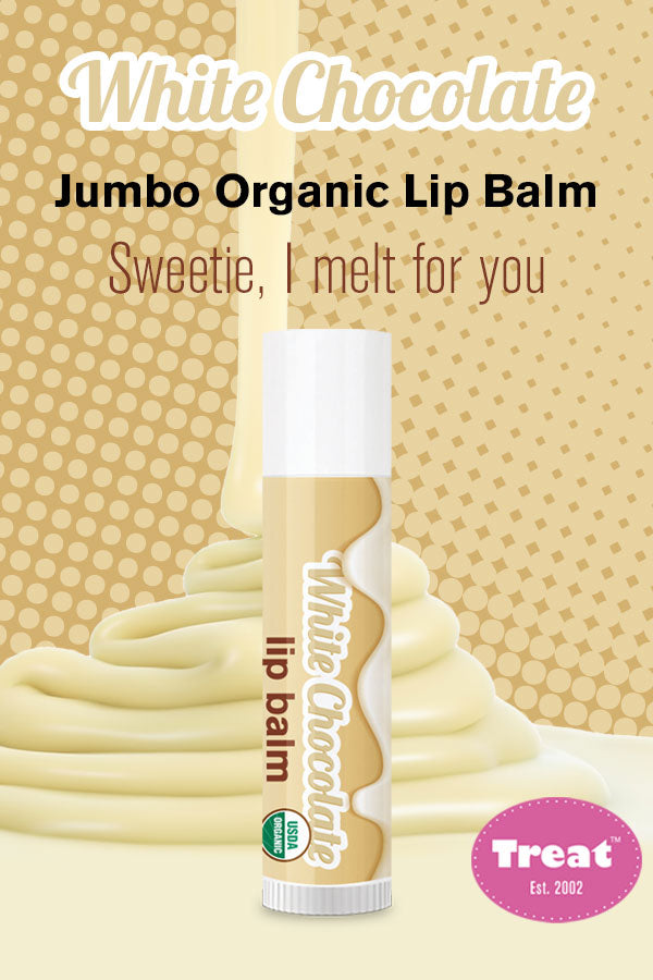 Treat White Chocolate Jumbo Organic Lip Balm