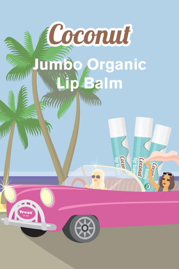 Treat Coconut Jumbo Organic Lip Balm