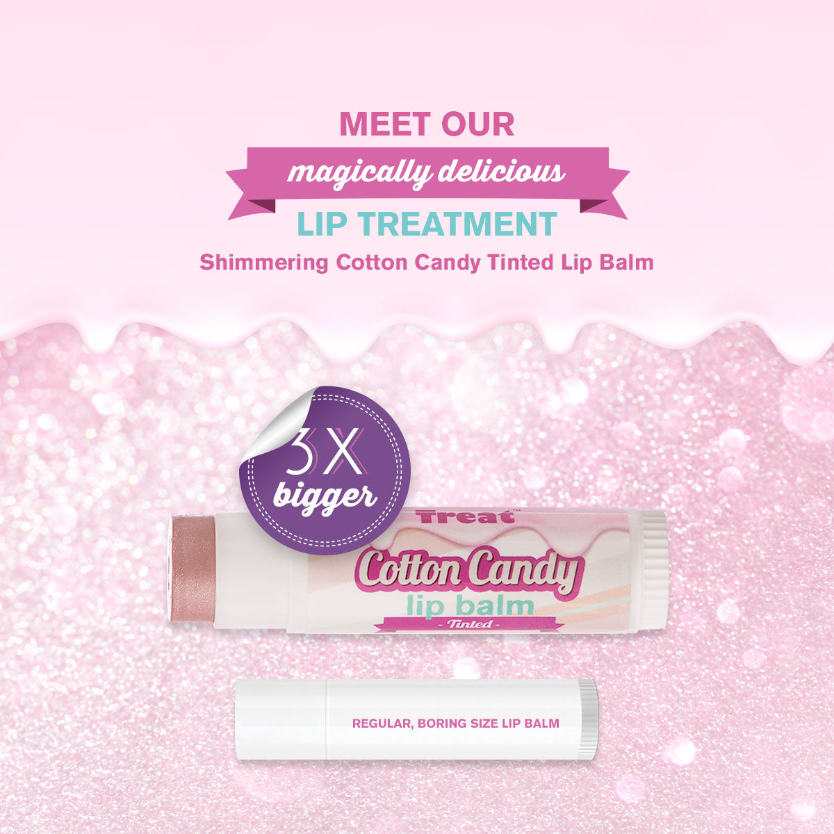 Shimmering Cotton Candy TInted Lip Balm