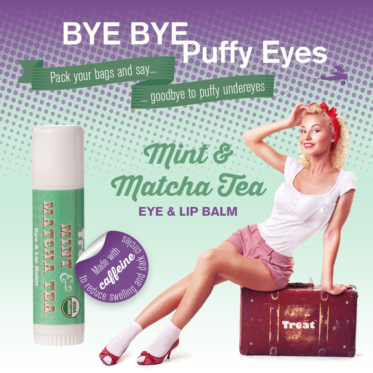 Mint & Matcha Tea Eye & Lip Balm