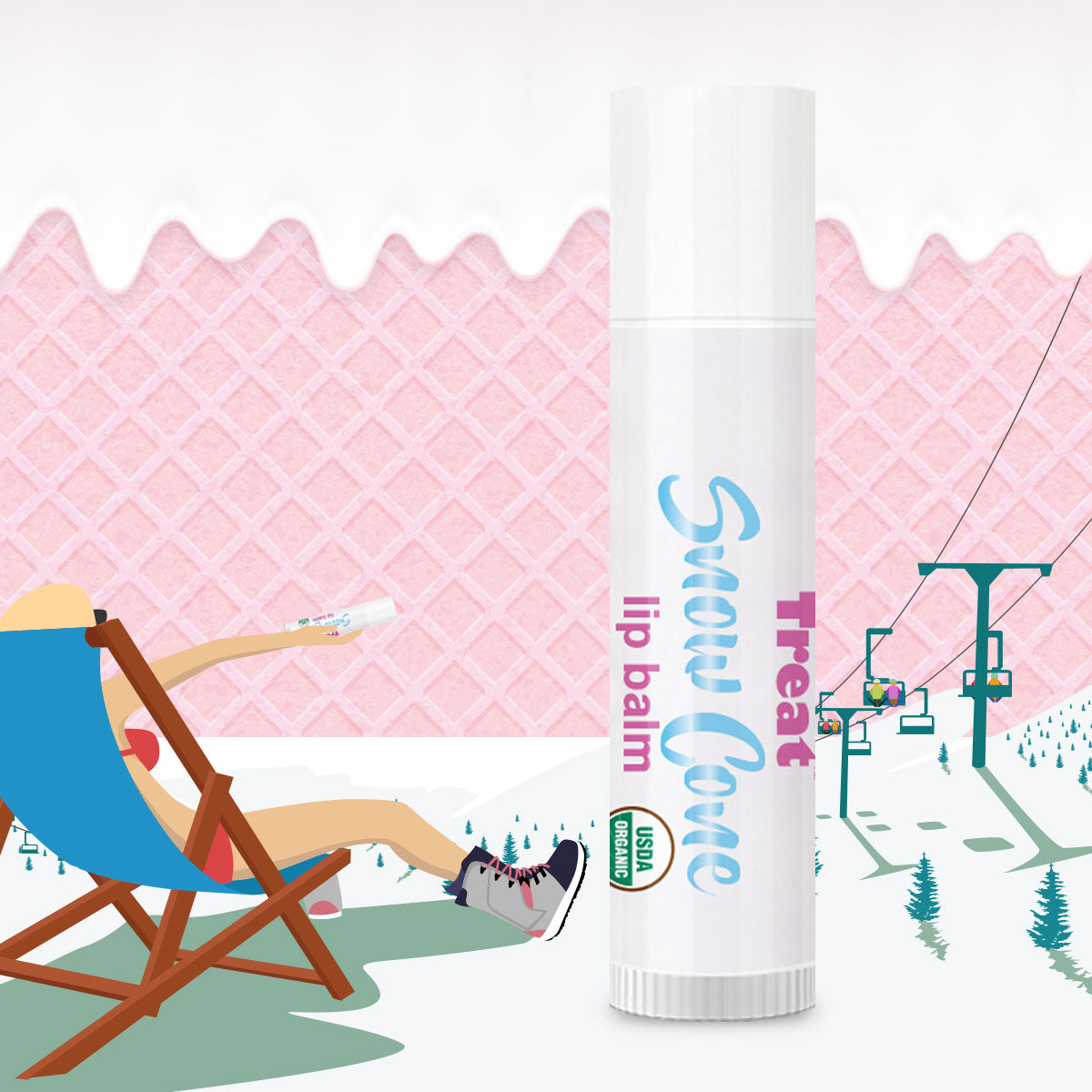 Treat Snow Cone Jumbo Organic Lip Balm