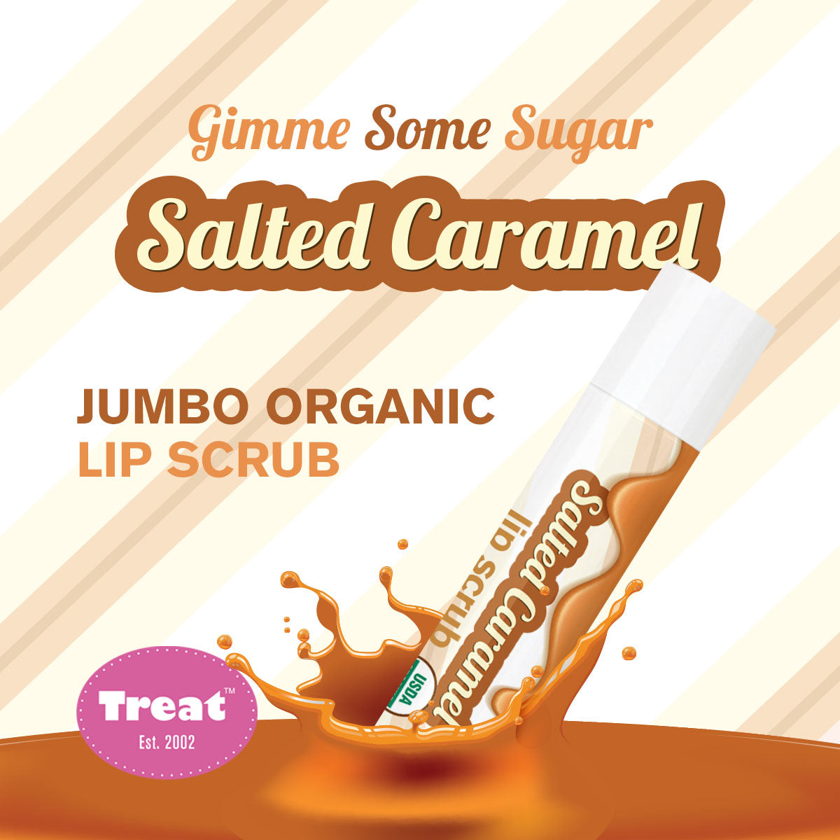 Treat Salted Caramel Organic Lip Scrub