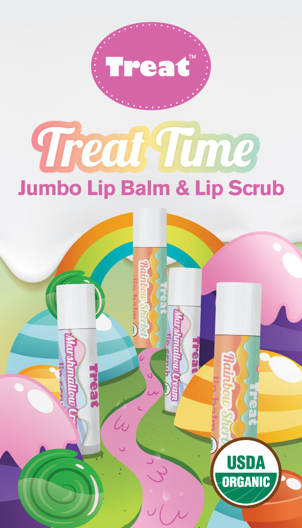 Treat Time Jumbo Lip Balm & Lip Scrub Duo