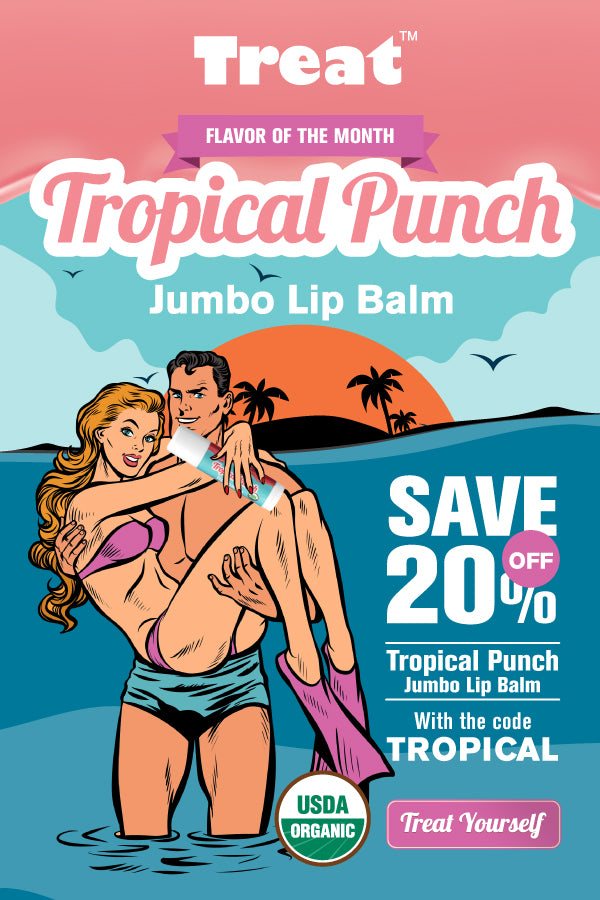 Tropical Punch Jumbo Lip Balm Flavor of the Month