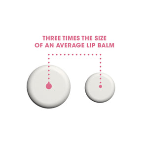 3x the size of regular lip balm