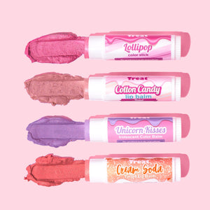 Treat Color Sticks & Tinted Lip Balms