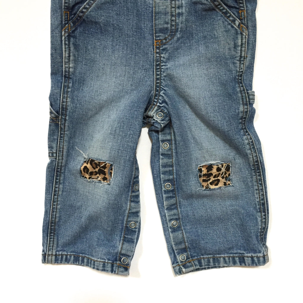 Distressed Leopard Overalls