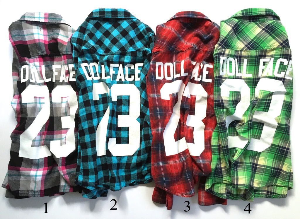Girls DOLL FACE Flannels (L)