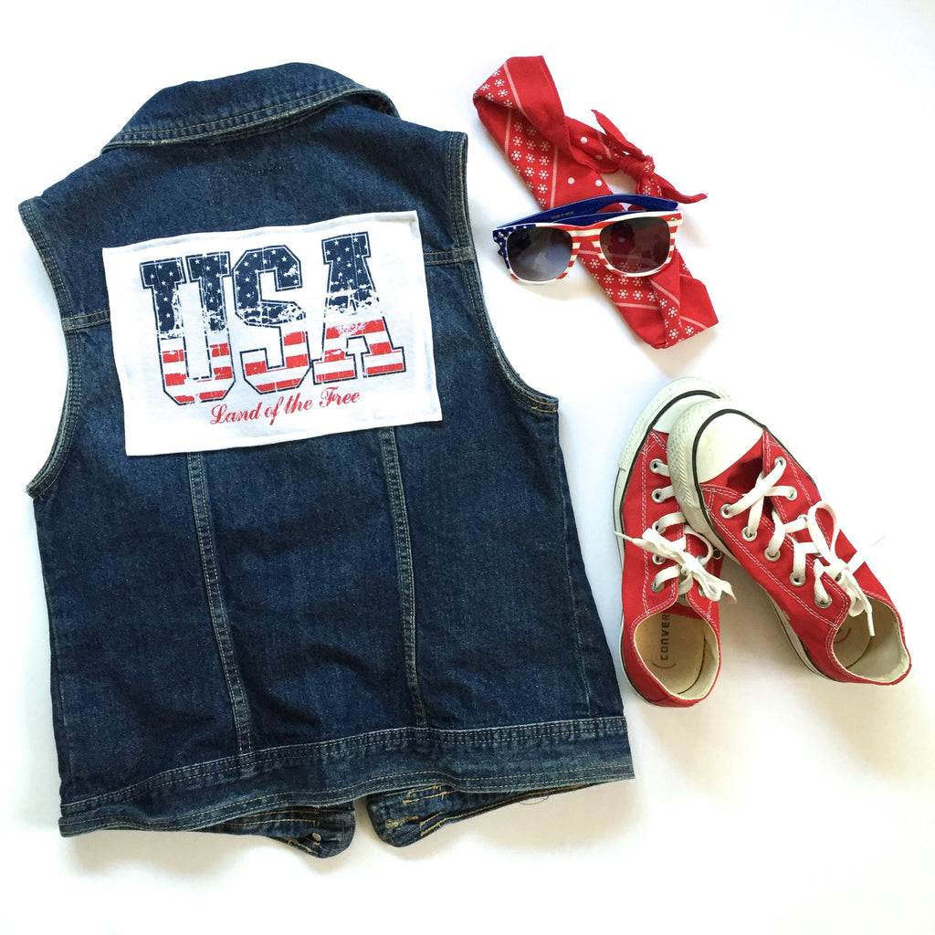 USA Denim Vest