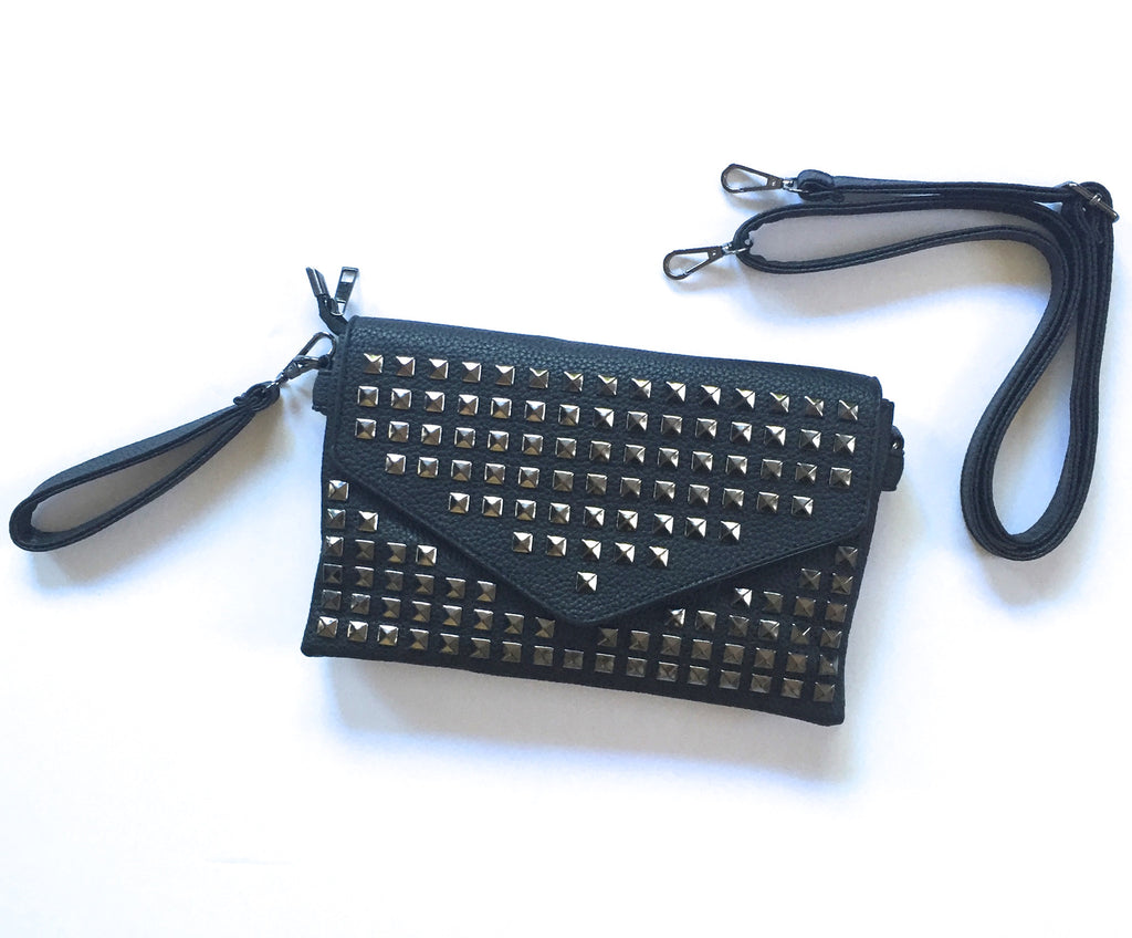 Black Studded Purse
