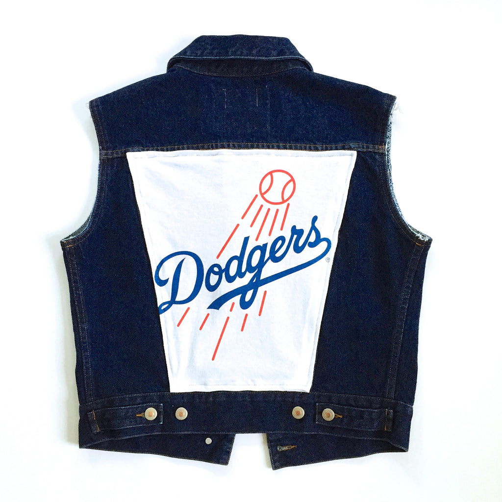LA DODGERS DENIM VEST