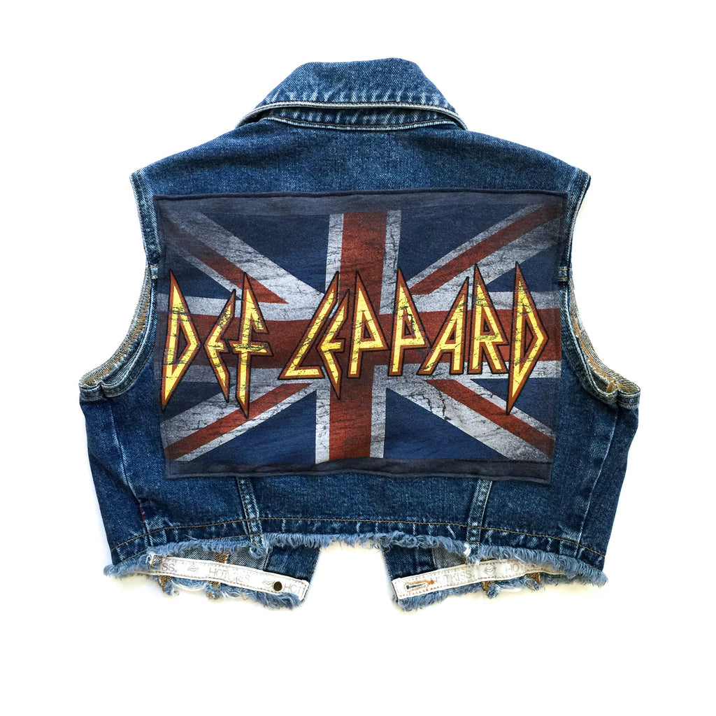 Def Leppard Cropped Denim Vest