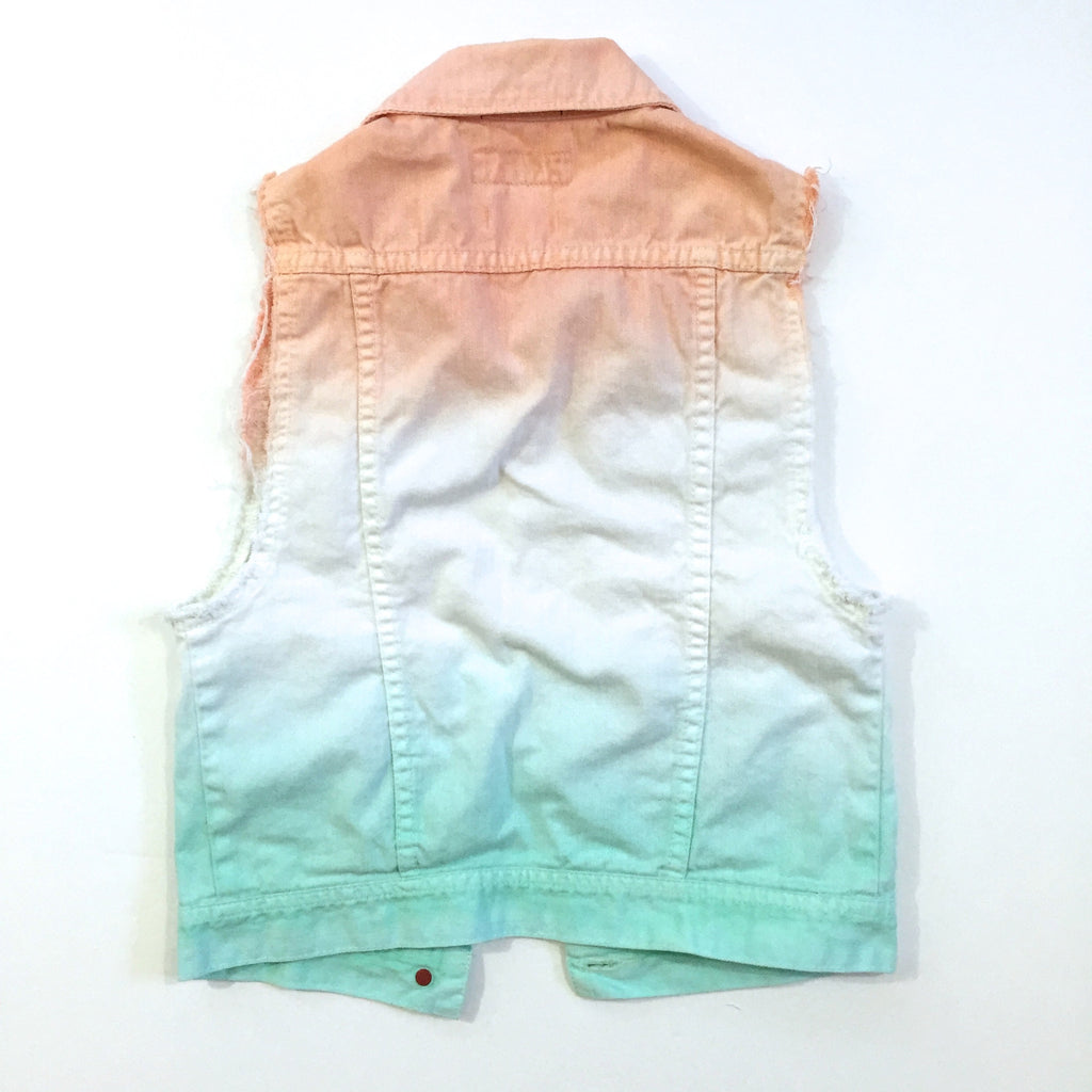 Tie Dye Studded Denim Vest
