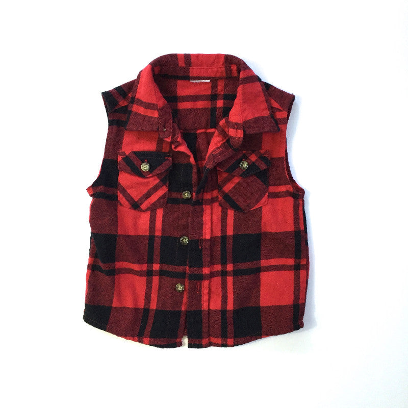 Toddler Flannel Cut-Offs