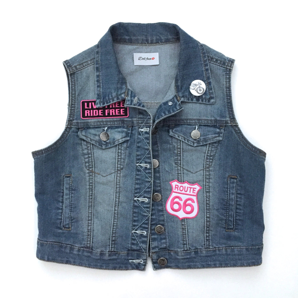 Route 66 Denim Vest