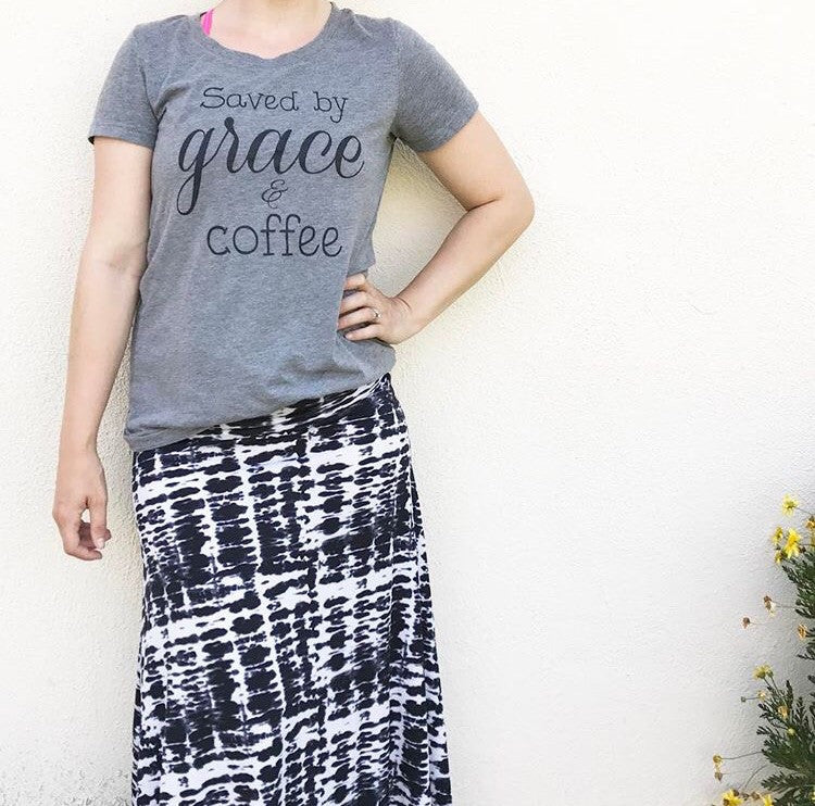 Saved by Grace & Coffee Tee