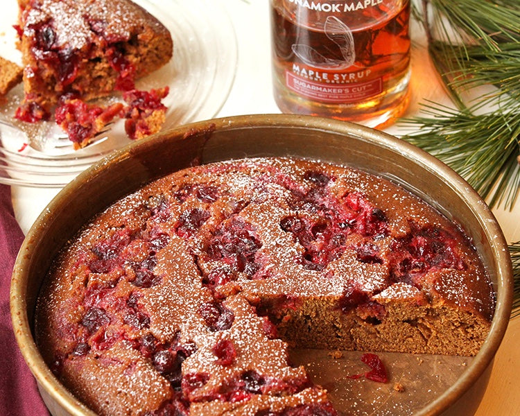 Maple Cranberry Gingerbread