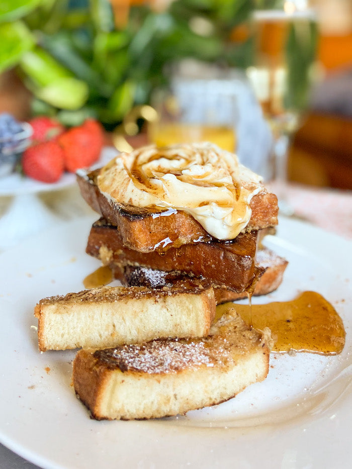 French Toast with Posy Sugar